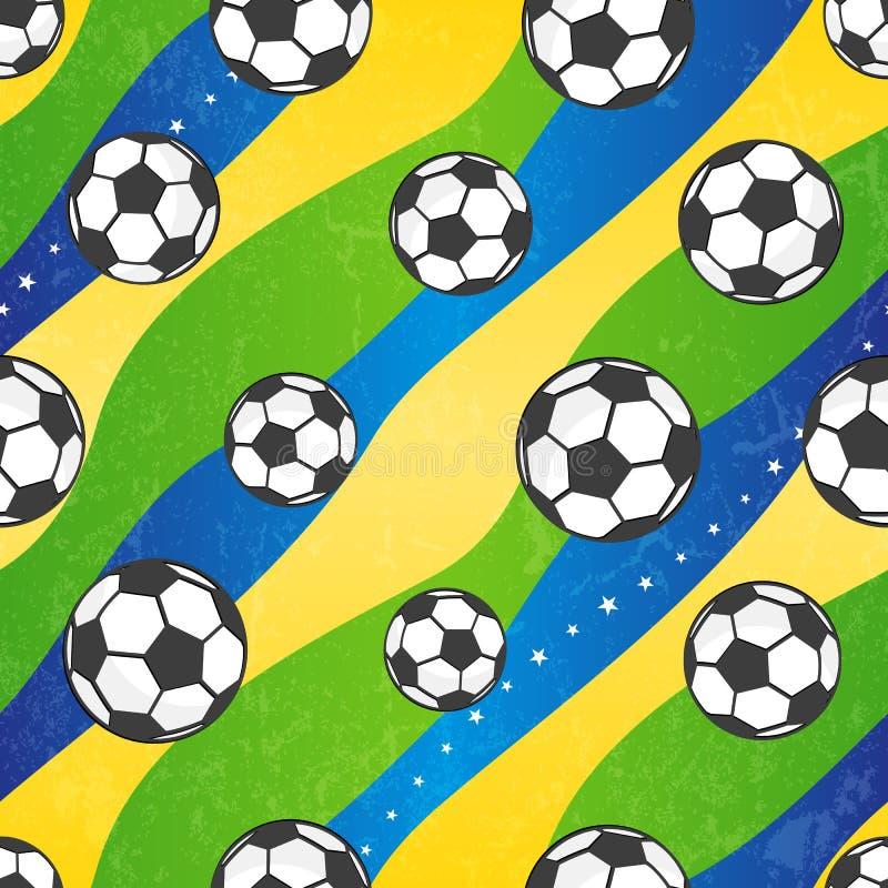Nahtloses Fußballmuster, Vektorhintergrund. stock abbildung