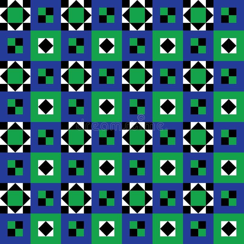Nahtloses Fußboden-Fliese-Muster lizenzfreie abbildung