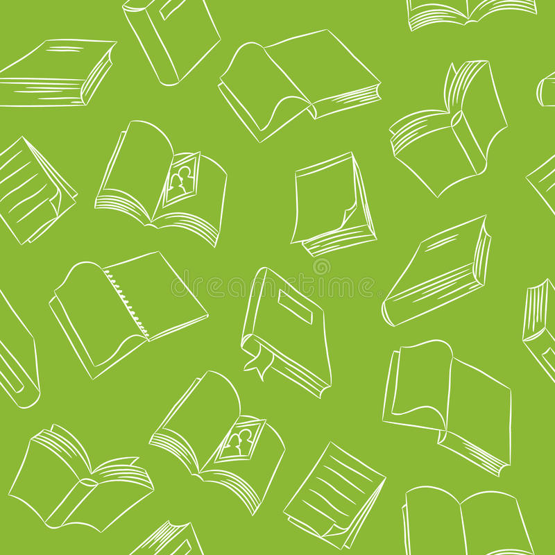 Nahtloses Gekritzel-Muster - Bücher vektor abbildung