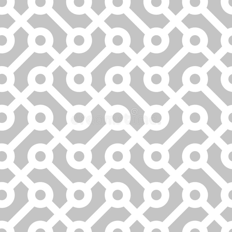 nahtloses geometrisches einfarbiges Muster vektor abbildung