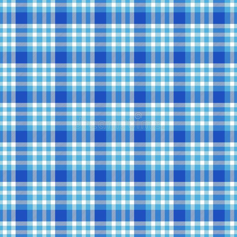 Nahtloses geometrisches Ginghammuster entziehen Sie Hintergrund Blaue, Schwarzweiss-Streifen lizenzfreie abbildung