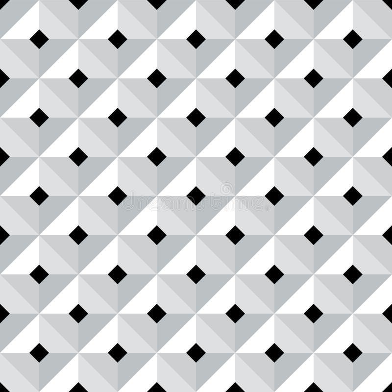 Nahtloses geometrisches Muster 3d stock abbildung