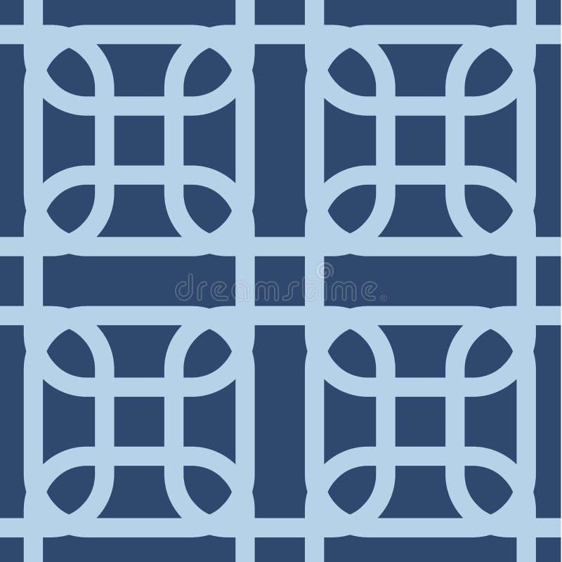 Nahtloses geometrisches Muster Das Element des Designdruckens auf Gewebe, Papier, wickelnd ein Verzierung in der ethnischen Art G stock abbildung