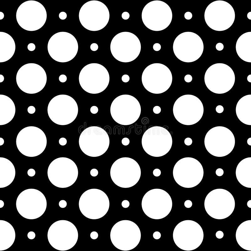 Nahtloses geometrisches Muster in den Tupfen auf einem schwarzen Hintergrund vektor abbildung