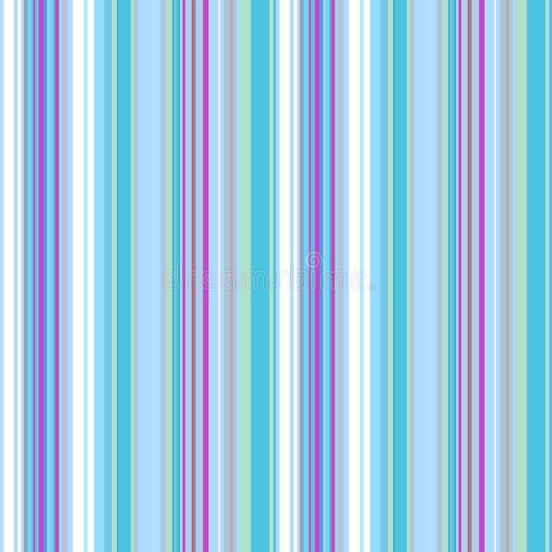 Nahtloses geometrisches Muster in den weißen, hellblauen und purpurroten vertikalen Streifen, Vektor vektor abbildung