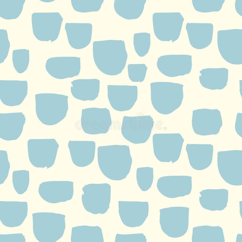 Nahtloses geometrisches Muster der modernen Vektorzusammenfassung mit Halbrunden in der skandinavischen Art lizenzfreie abbildung