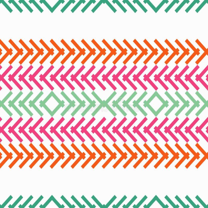 Nahtloses geometrisches Muster Die Beschaffenheit der Streifen vektor abbildung