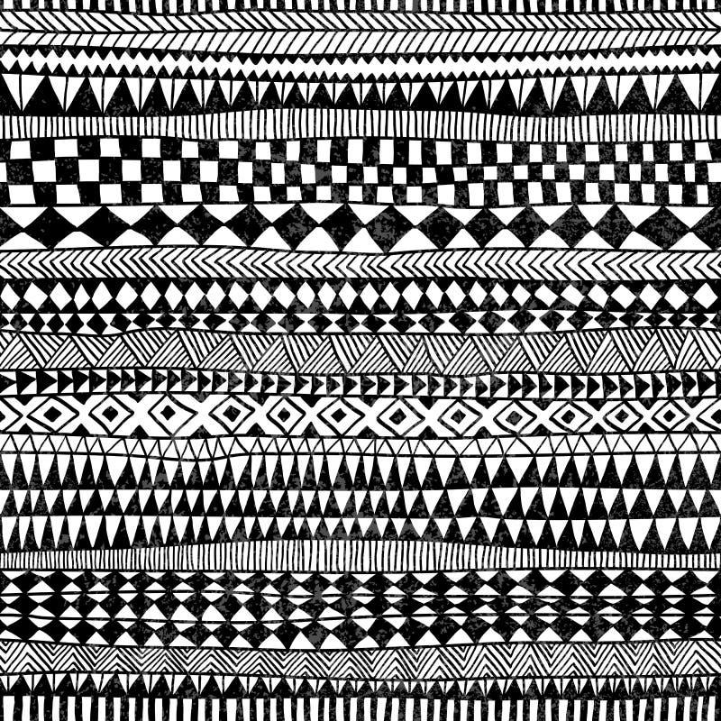 Nahtloses geometrisches Muster Druck für Ihr Gewebe Ethnisch und t stock abbildung