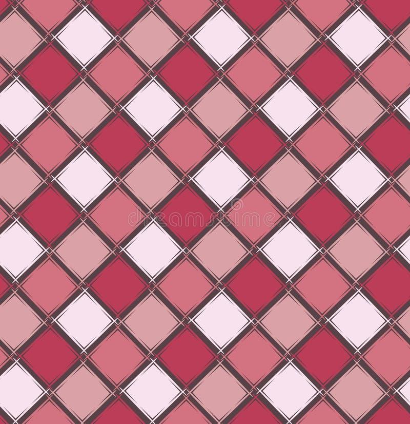 Nahtloses geometrisches Muster Einfache Verzierung mit Rauten Geometrische Formen stock abbildung