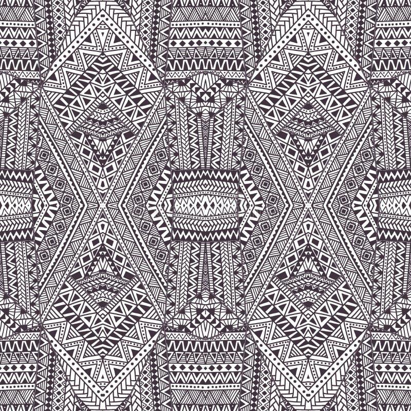 Nahtloses geometrisches Muster Graue und weiße Verzierung Vektor illu vektor abbildung