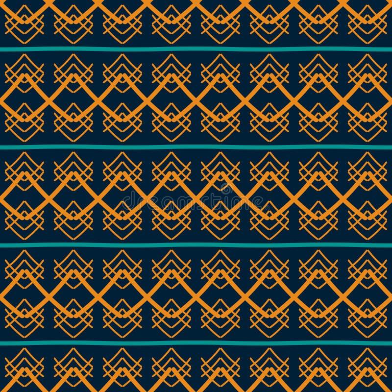 Nahtloses geometrisches Muster mit ethnischen Motiven stock abbildung