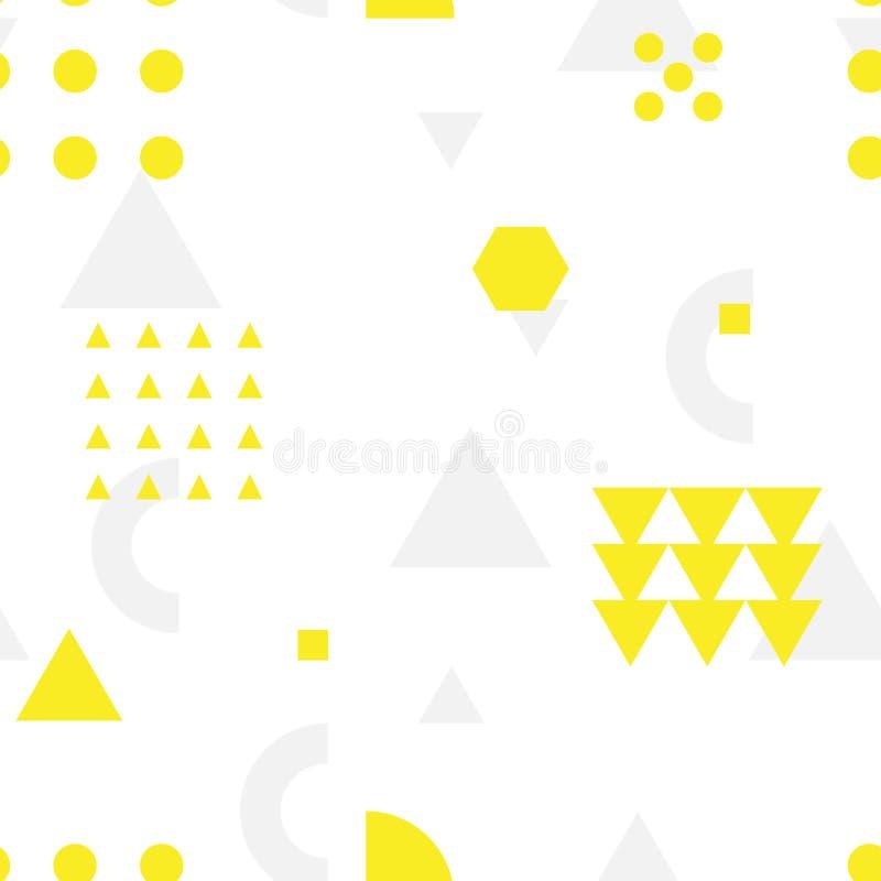 Nahtloses geometrisches Muster mit geometrischen Formen vektor abbildung