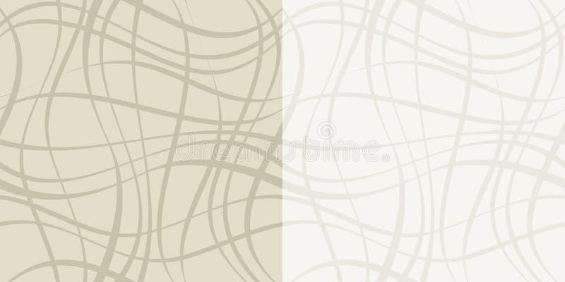 Nahtloses geometrisches Muster mit Linien stock abbildung