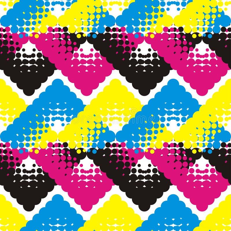 Nahtloses geometrisches Muster Modische nahtlose Musterdesigne stock abbildung