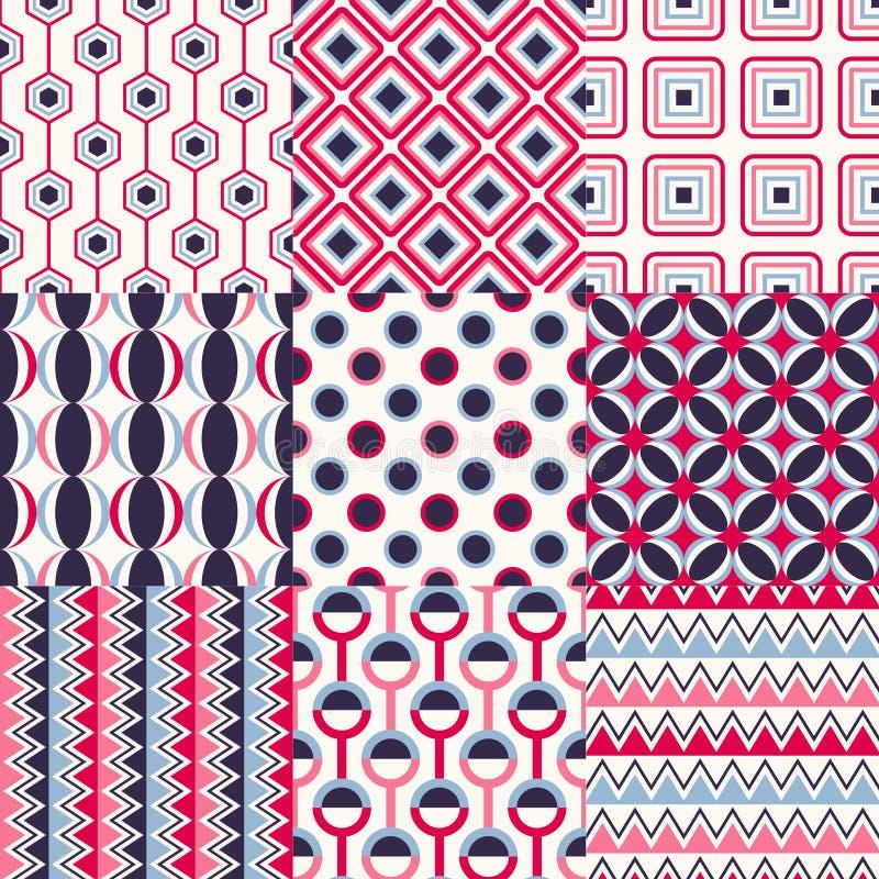 Nahtloses geometrisches Muster-Set lizenzfreie abbildung
