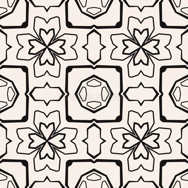 Nahtloses geometrisches Muster. Vektorbeschaffenheit lizenzfreie abbildung