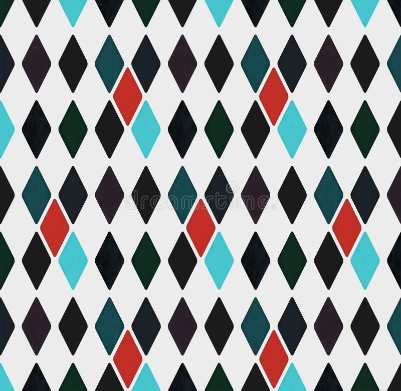 Nahtloses geometrisches Muster von Rauten, Illustration vektor abbildung