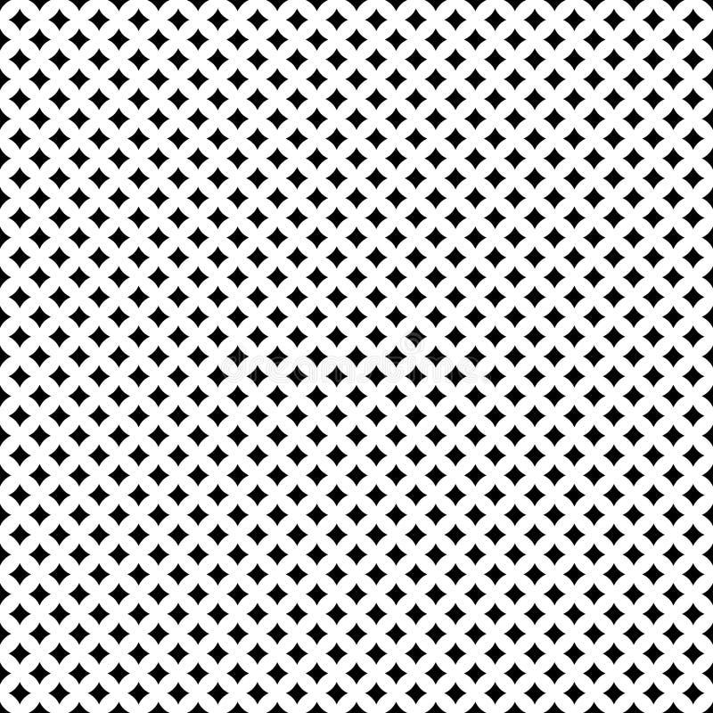 Nahtloses geometrisches Muster von schneidenen Schattenbildern von Kreisen oder Sterne Muster für Gewebe und Kleidung Vektor vektor abbildung