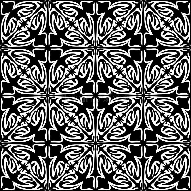 Nahtloses geometrisches Schwarzweiss-Muster lizenzfreie abbildung