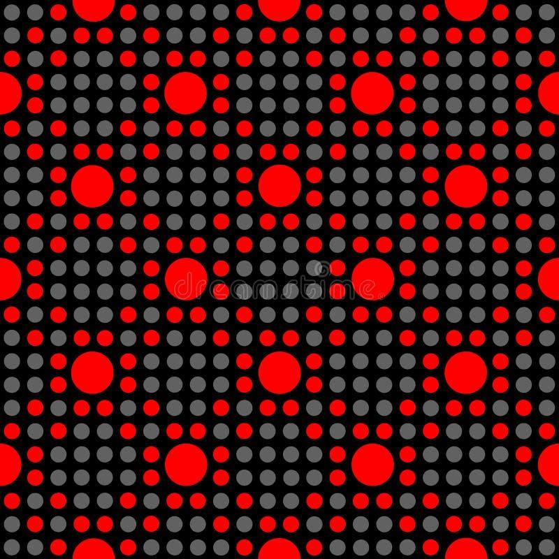 Nahtloses geometrisches Tupfenmuster vektor abbildung