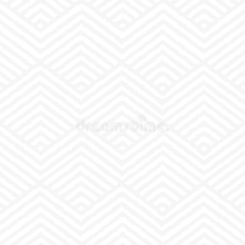 Nahtloses geometrisches weißes Beschaffenheit Muster lizenzfreie abbildung