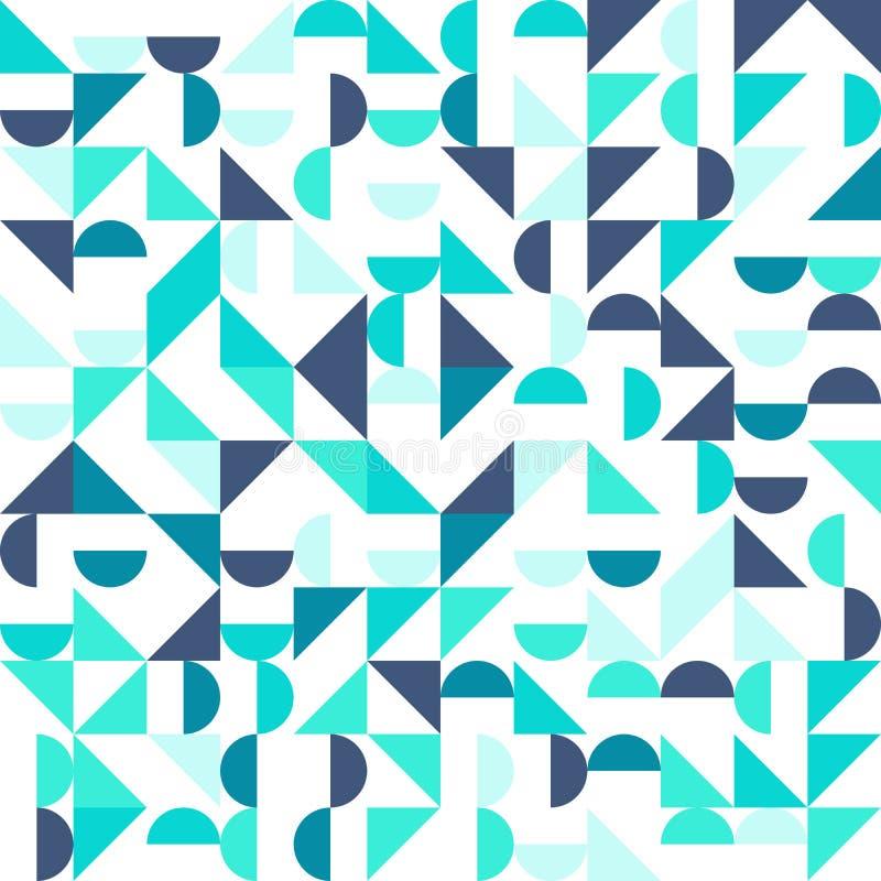Nahtloses geometrisches, Weinlesemuster mit lizenzfreie abbildung