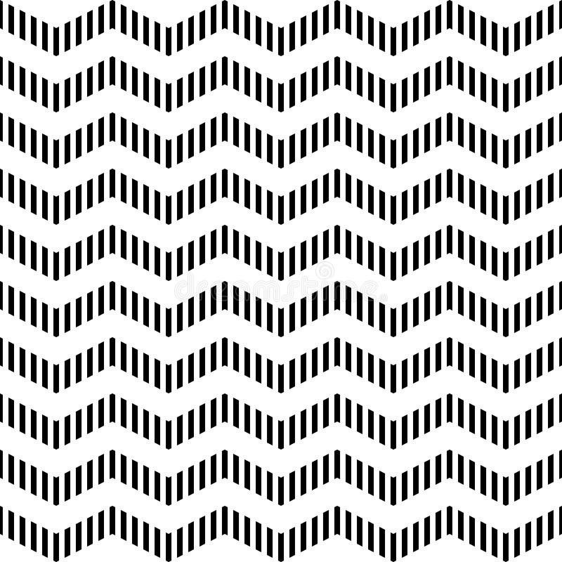 Nahtloses geometrisches Zickzackmuster. lizenzfreie abbildung