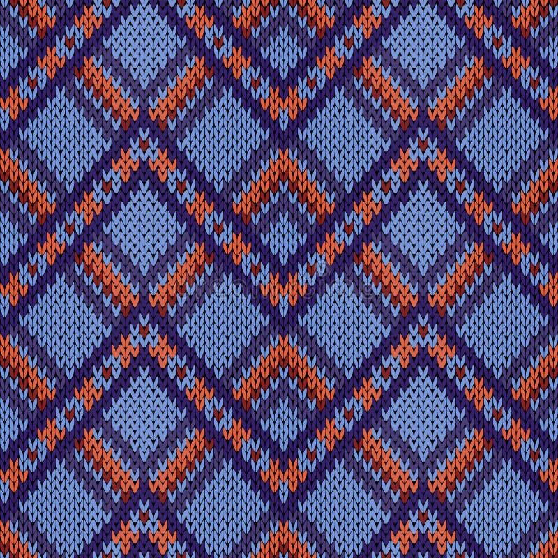 Nahtloses gestricktes dekoratives Muster vektor abbildung