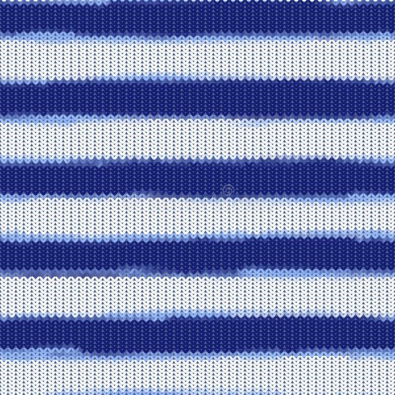 Nahtloses gestricktes gestreiftes Muster stock abbildung