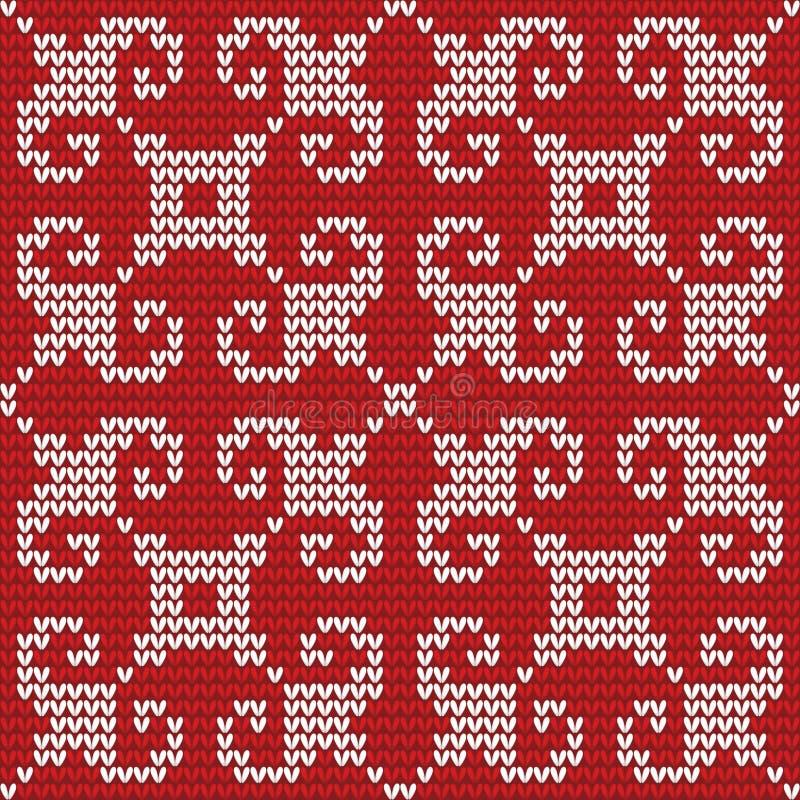 Nahtloses gestricktes Muster. stock abbildung