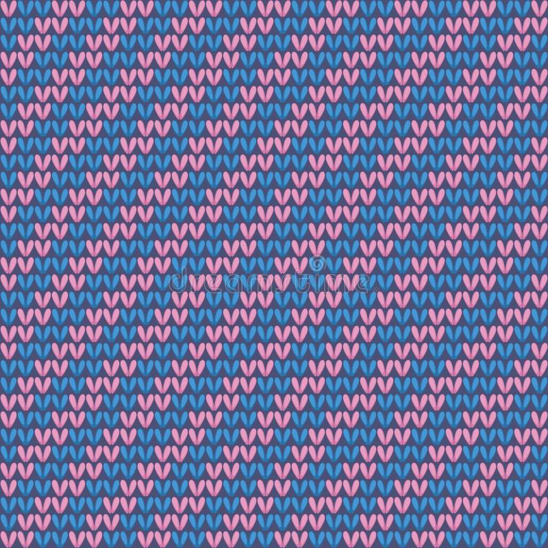 Nahtloses gestricktes Muster. vektor abbildung