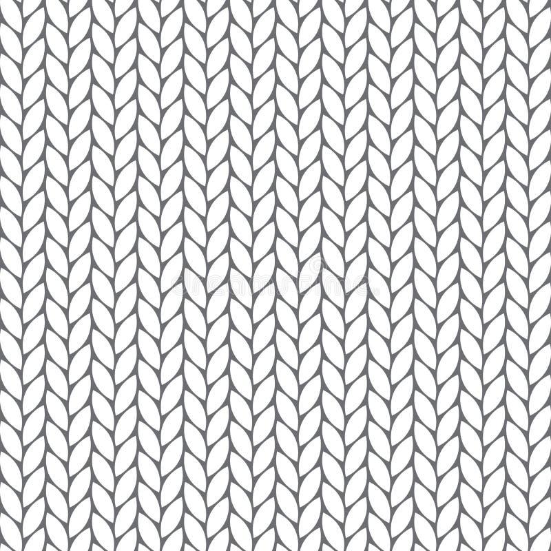 Nahtloses gestricktes Muster vektor abbildung