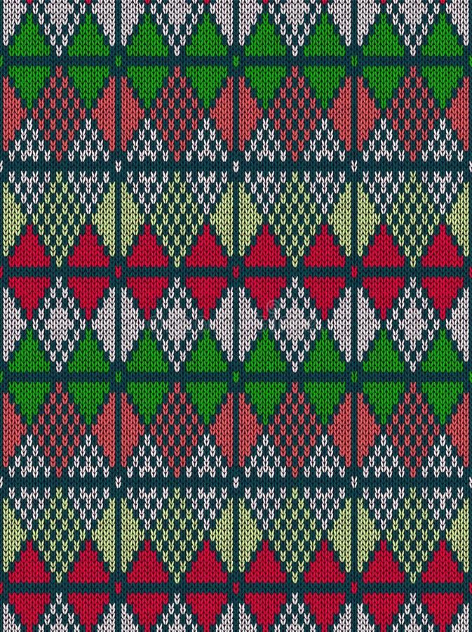 Nahtloses gestricktes Muster der Art stock abbildung