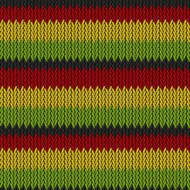 Nahtloses gestricktes Reggaemuster lizenzfreie abbildung