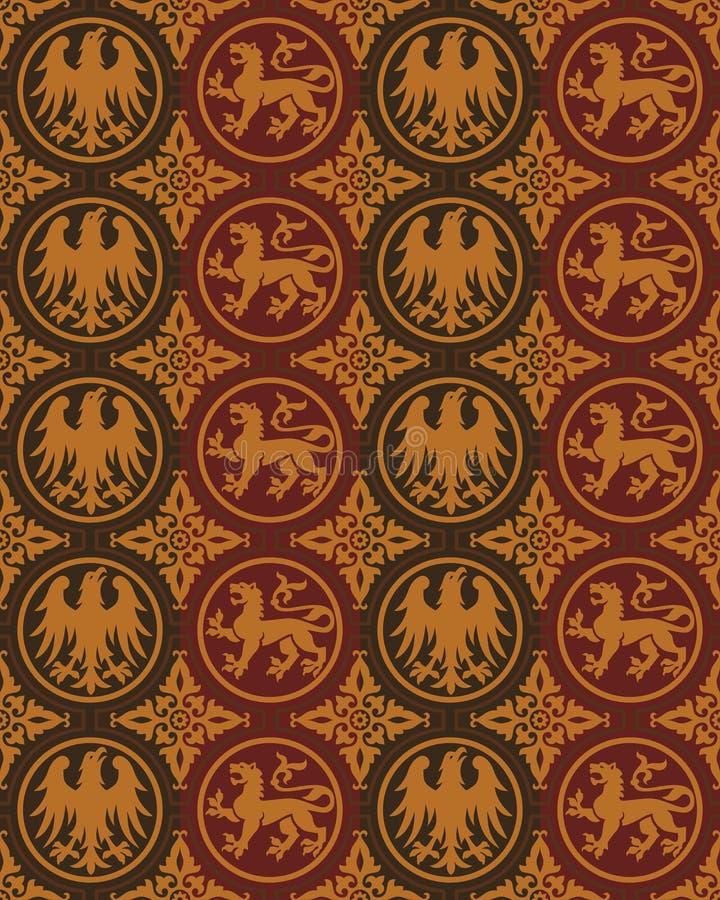 Nahtloses gotisches Vektormuster stock abbildung