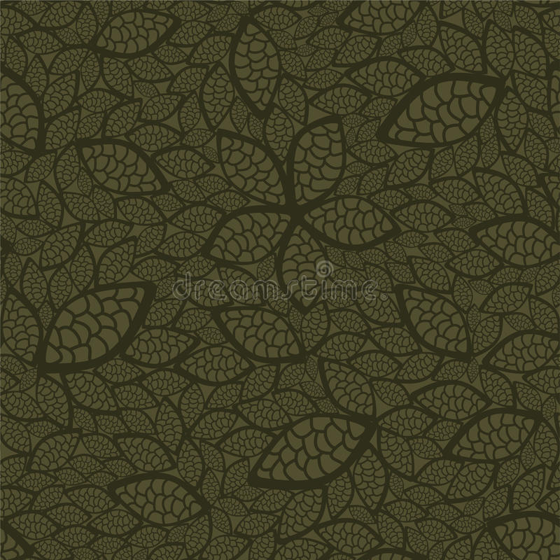 Nahtloses Grün lässt Tapete lizenzfreie abbildung