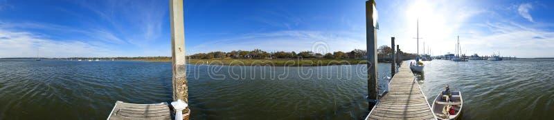 nahtloses Panorama 360 von beaufort Südcarolin stockfotos