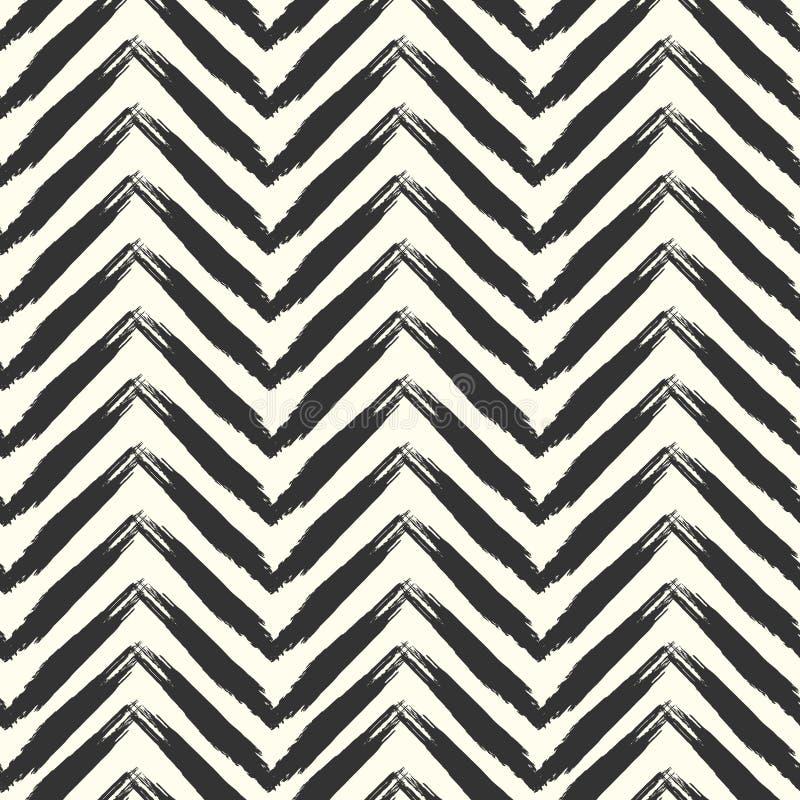 Nahtloses grunge Muster Pinsel streicht Beschaffenheit stock abbildung