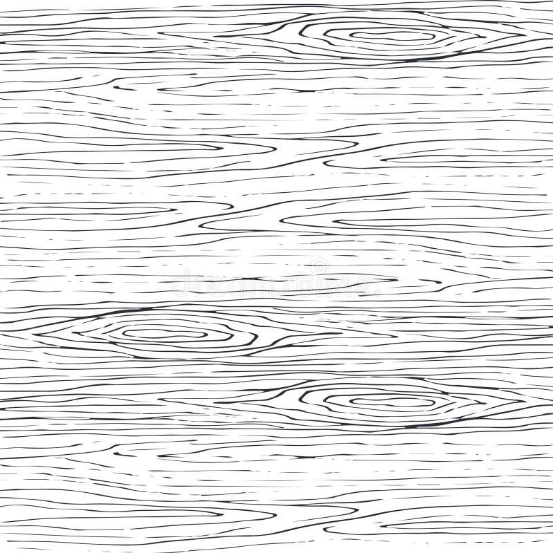 Nahtloses hölzernes Korngraumuster Hölzerner Beschaffenheitsvektorhintergrund stock abbildung