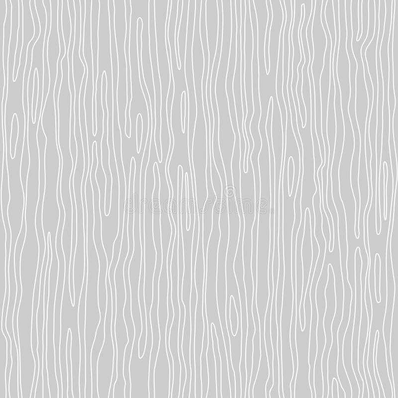 Nahtloses hölzernes Muster Hölzerne Kornbeschaffenheit Dichte Linien entziehen Sie Hintergrund vektor abbildung