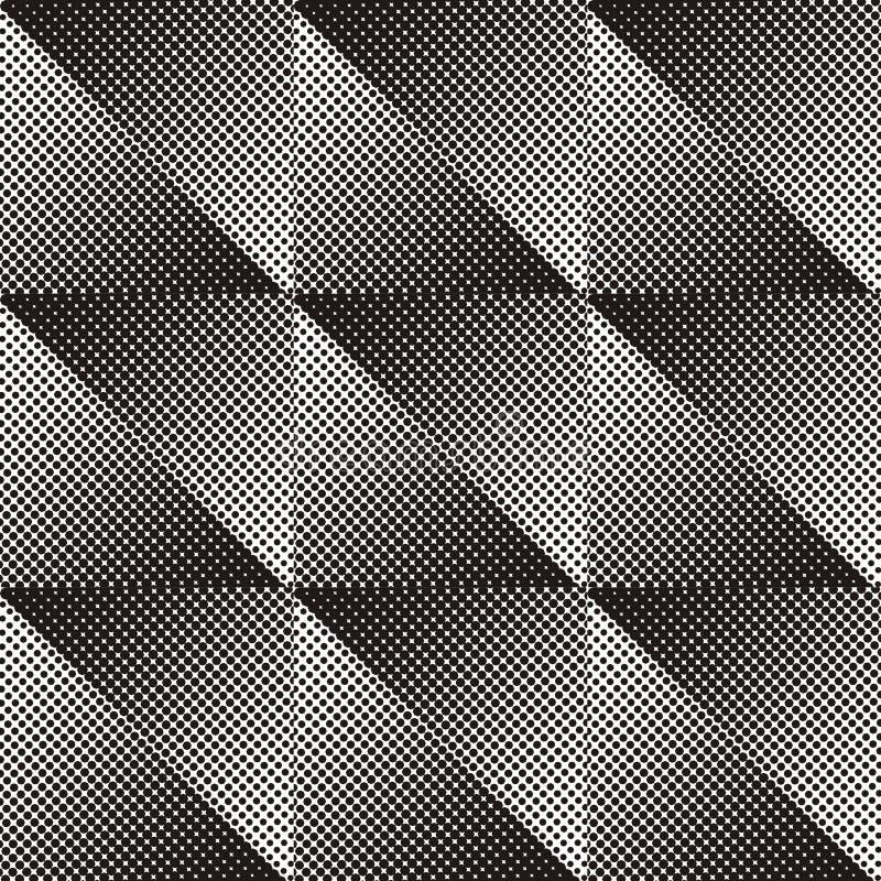 Nahtloses Halbtonmuster vektor abbildung