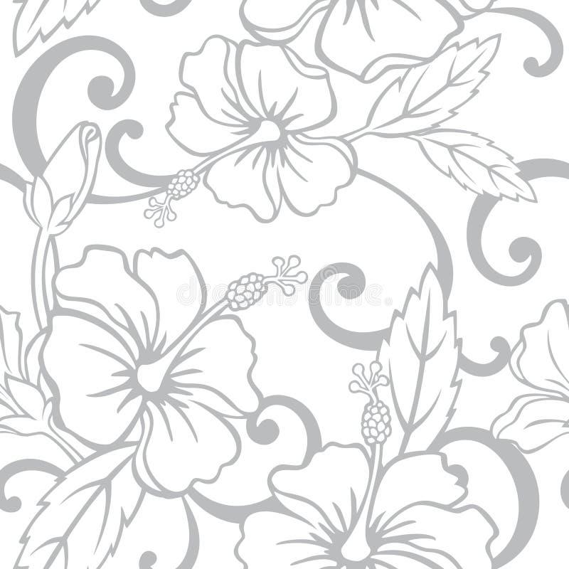 Nahtloses hawaiisches Hochzeits-Muster vektor abbildung