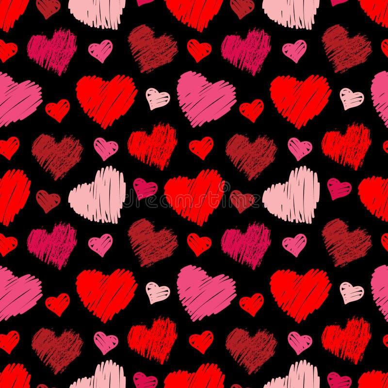 Nahtloses Herzmuster stock abbildung