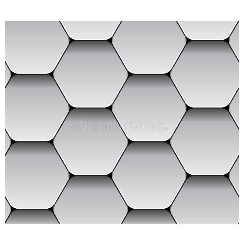 Nahtloses Hexagonpapiermuster vektor abbildung