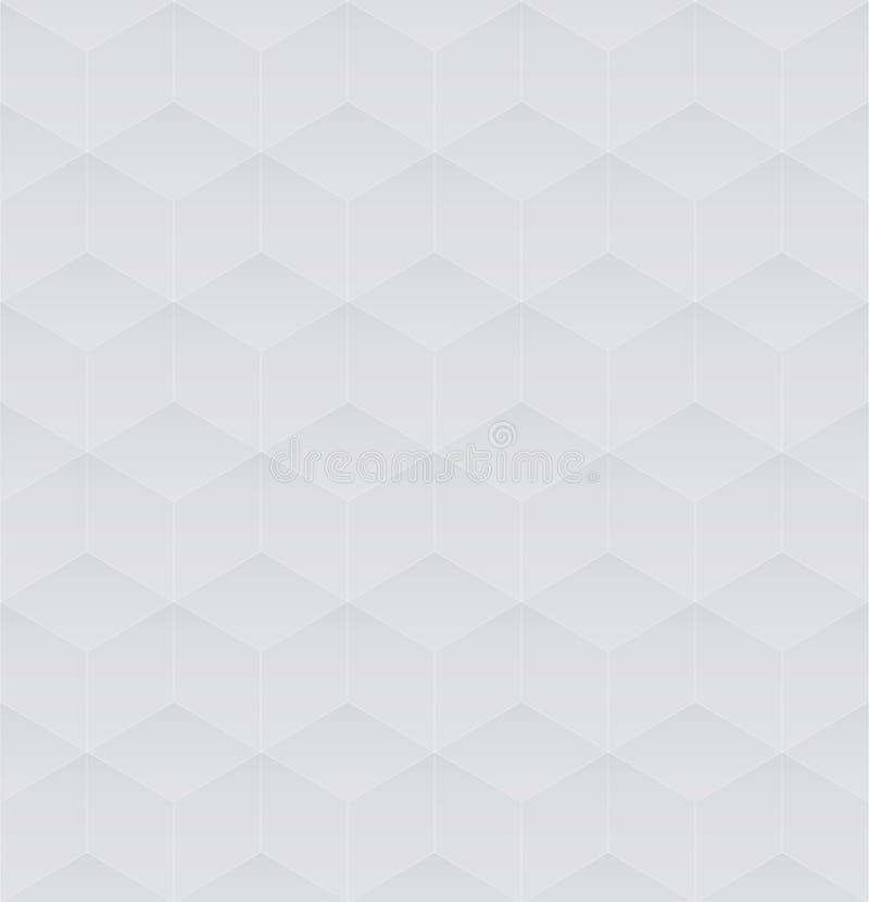 nahtloses Hintergrundgrau des Würfels 3d lizenzfreie stockbilder