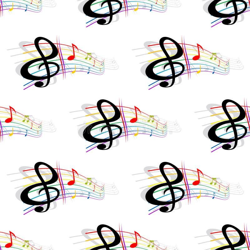 Nahtloses Hintergrundmusikmuster vektor abbildung