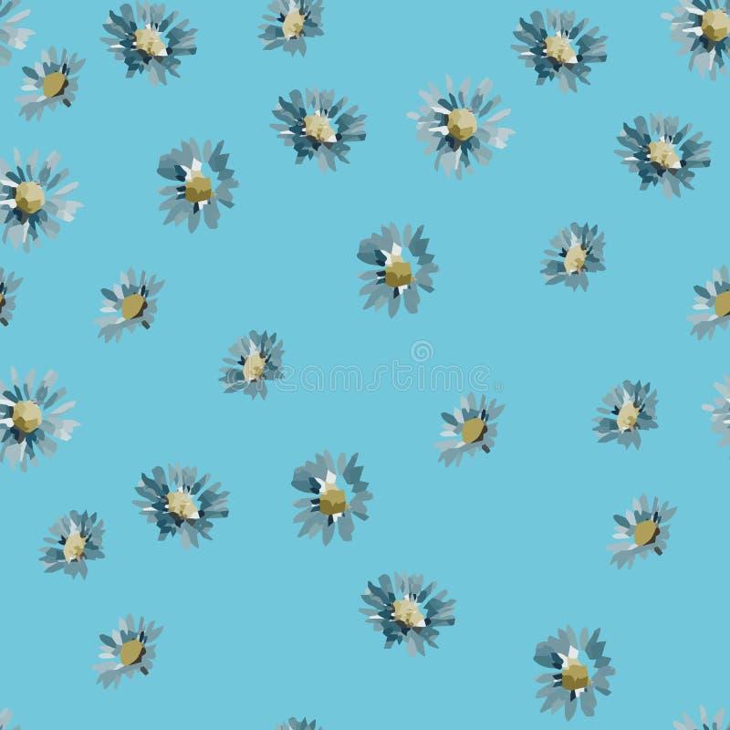 Nahtloses Hintergrundmuster der Gartenblumenblumen Auch im corel abgehobenen Betrag ENV 10 lizenzfreie abbildung