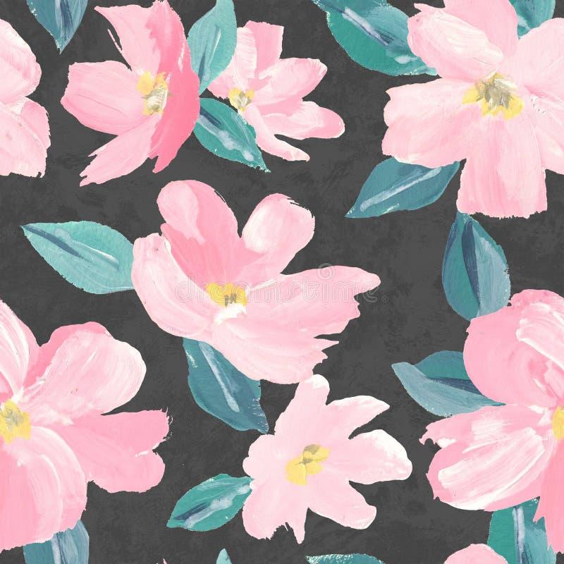 Nahtloses Hintergrundmuster rosa Kirschblüte-Blüte oder der japanischen blühenden Kirsche symbolisch vom Frühling passend für Gew vektor abbildung
