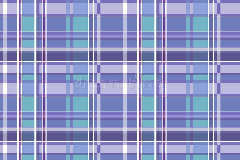 Nahtloses kariertes Muster in der schottischen Art tartan Ein klassisches Weihnachtsgeometrisches Muster Woolen blauer Gewebehint lizenzfreie abbildung