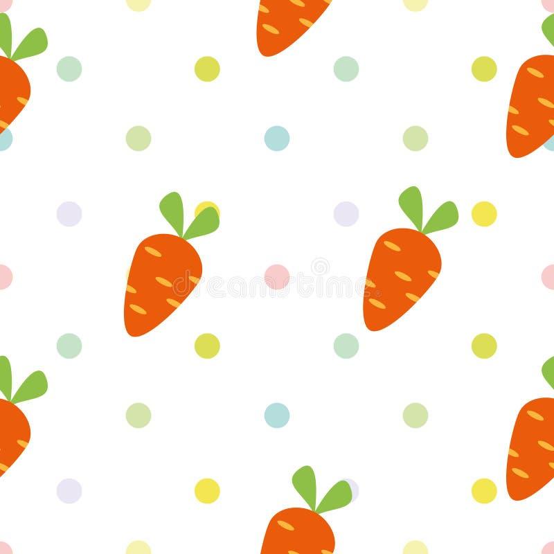 Nahtloses Kind-` s Muster mit Karotten lizenzfreie abbildung